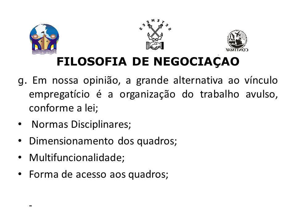 FILOSOFIA DE NEGOCIAÇÃO g.