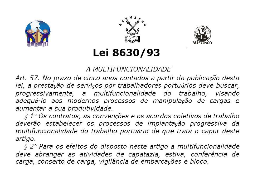 Lei 8630/93 A MULTIFUNCIONALIDADE Art.57.
