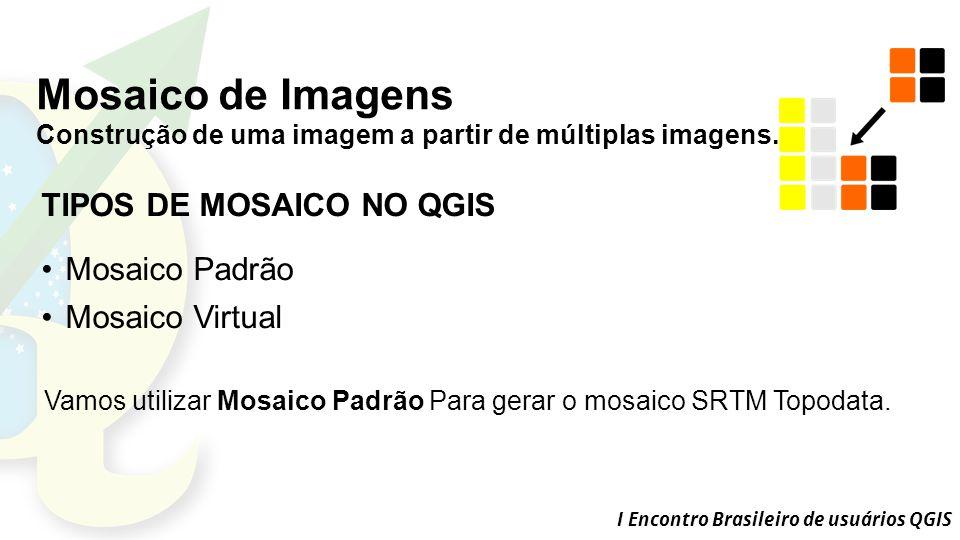I Encontro Brasileiro de usuários QGIS Mosaico de Imagens Construção de uma imagem a partir de múltiplas imagens.