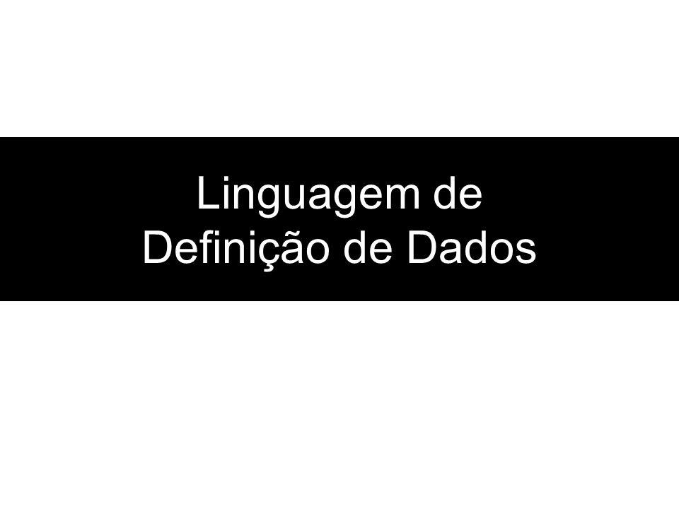 Linguagem de Definição de Dados
