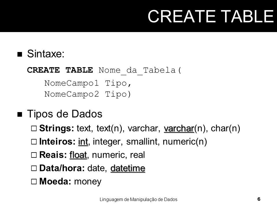 Crie uma tabela para armazenar códigos postais: um número inteiro e uma string com 50 caracteres.