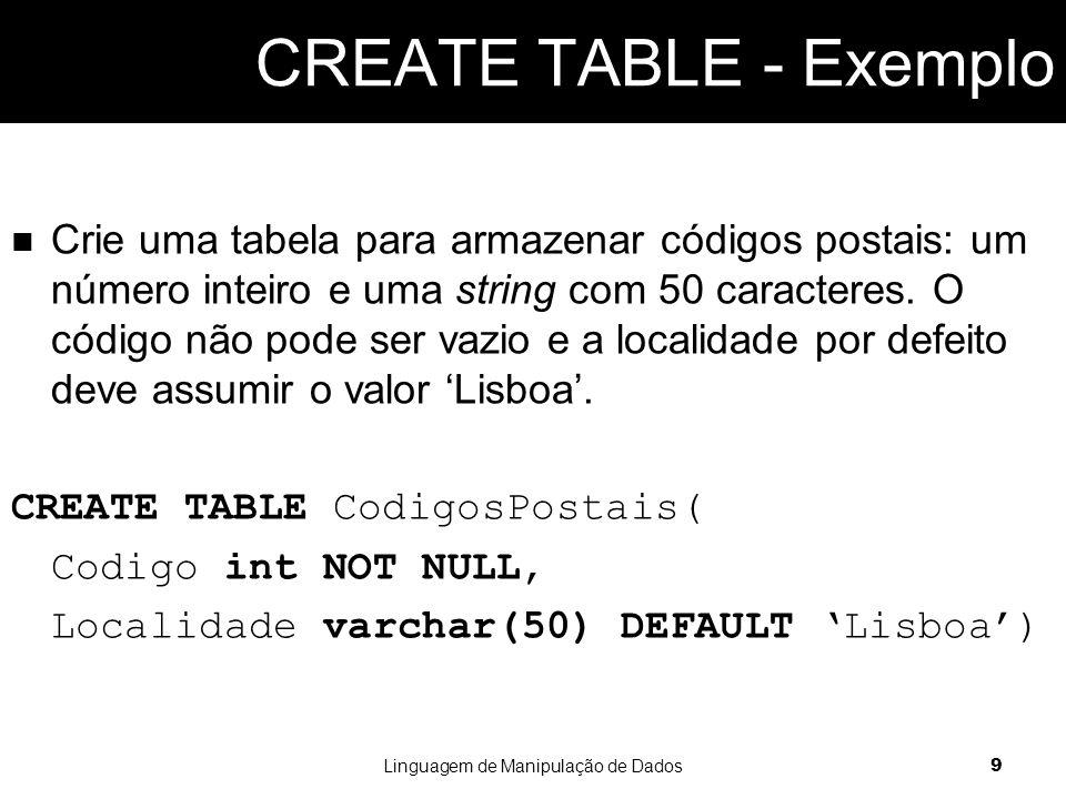 Assumindo a tabela 'CodigosPostais' adicione um novo registo com os valores 3720 e Oliveira de Azeméis.
