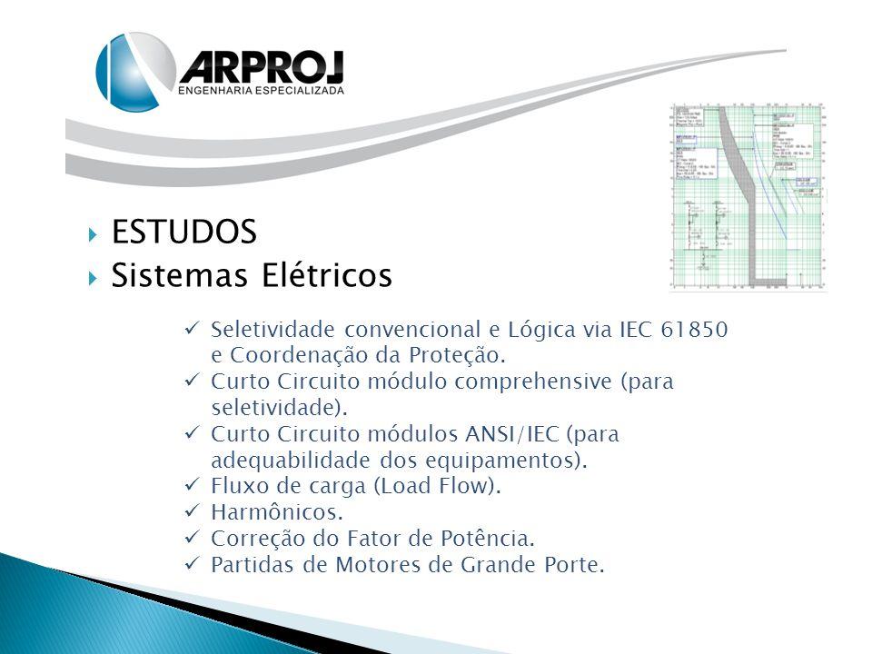  ESTUDOS  Sistemas Elétricos Seletividade convencional e Lógica via IEC 61850 e Coordenação da Proteção. Curto Circuito módulo comprehensive (para s