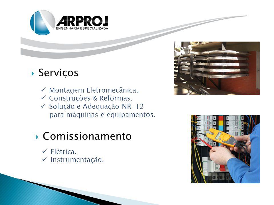  Serviços Montagem Eletromecânica. Construções & Reformas. Solução e Adequação NR-12 para máquinas e equipamentos.  Comissionamento Elétrica. Instru