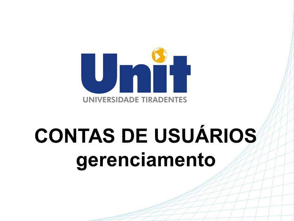 CONTAS DE USUÁRIOS gerenciamento