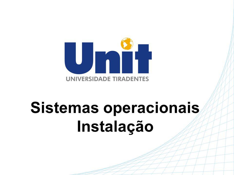Sistemas operacionais Instalação