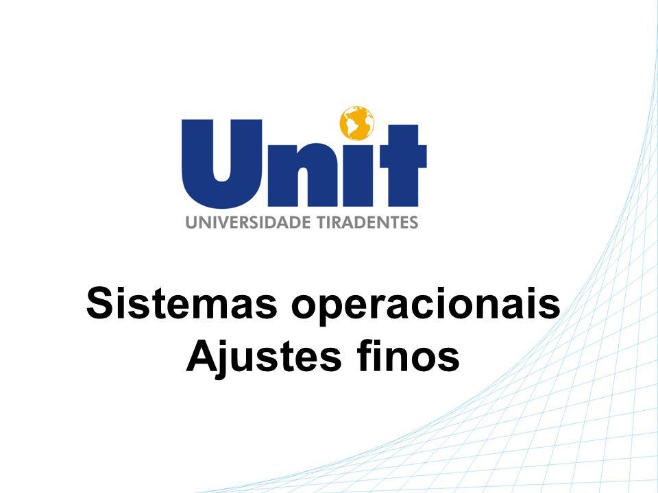 Sistemas operacionais Ajustes finos