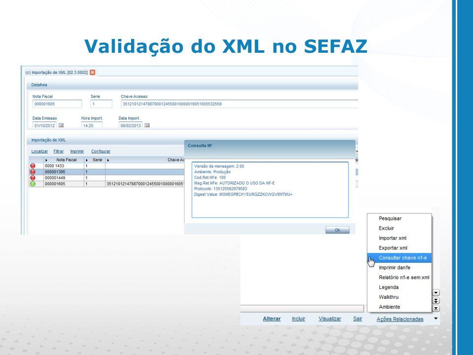 www.cyberpolos.com.br Validação do XML no SEFAZ