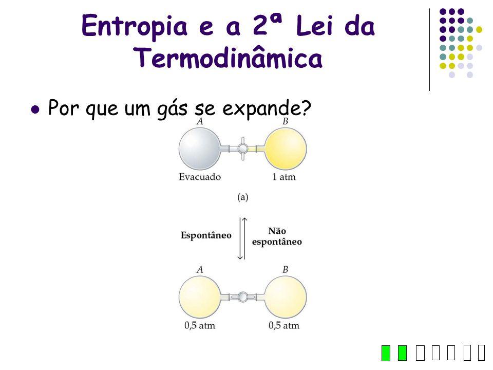 Entropia e a 2ª Lei da Termodinâmica Por que um gás se expande? 8