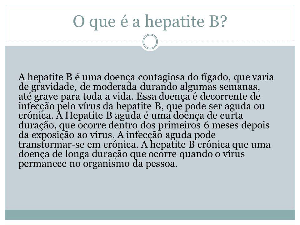 O que é a hepatite B.