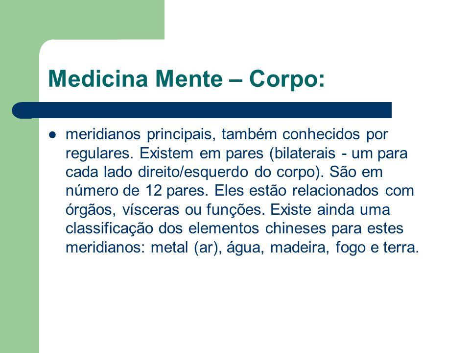 Medicina Mente – Corpo: meridianos principais, também conhecidos por regulares.