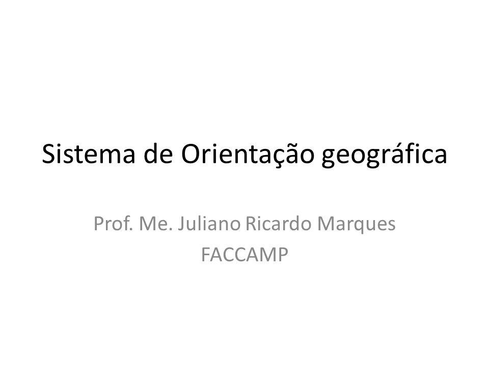 Sistema de Orientação geográfica Prof. Me. Juliano Ricardo Marques FACCAMP