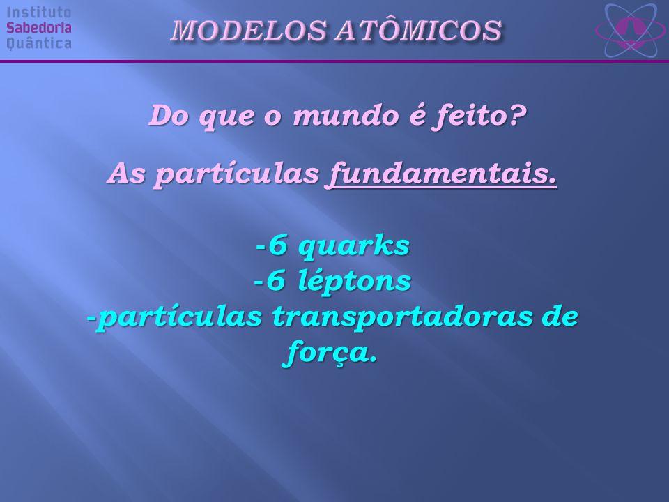 Do que o mundo é feito.As partículas fundamentais.