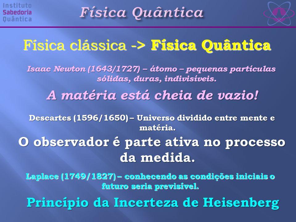Isaac Newton (1643/1727) – átomo – pequenas partículas sólidas, duras, indivisíveis.