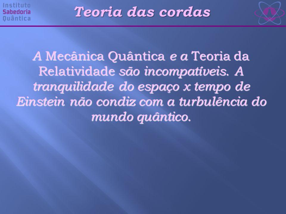 Teoria das cordas A Mecânica Quântica e a Teoria da Relatividade são incompatíveis.