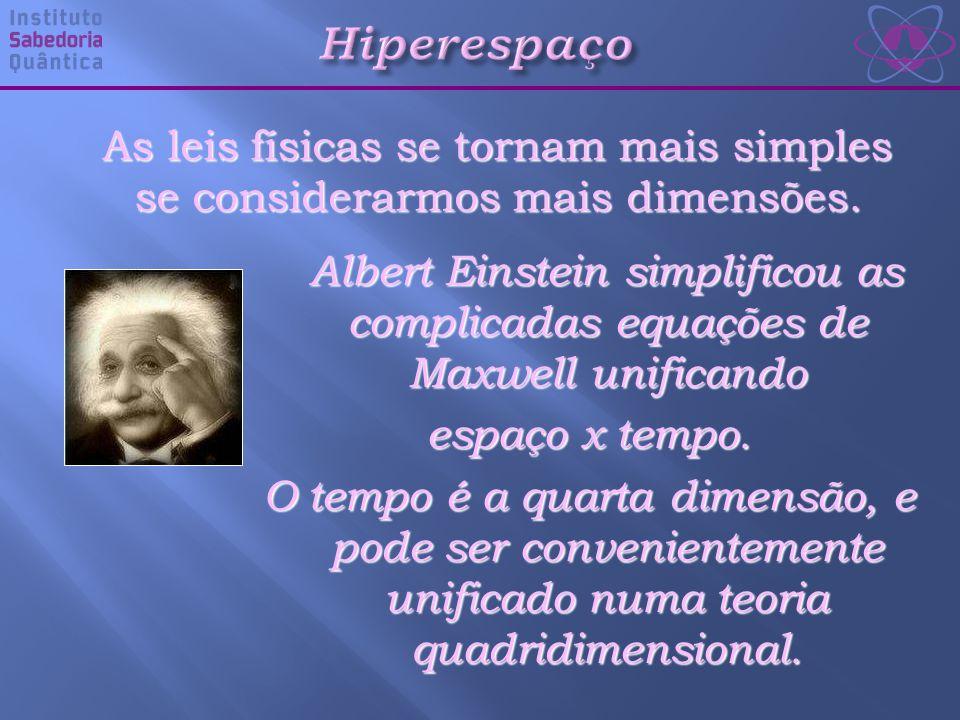 As leis físicas se tornam mais simples se considerarmos mais dimensões.