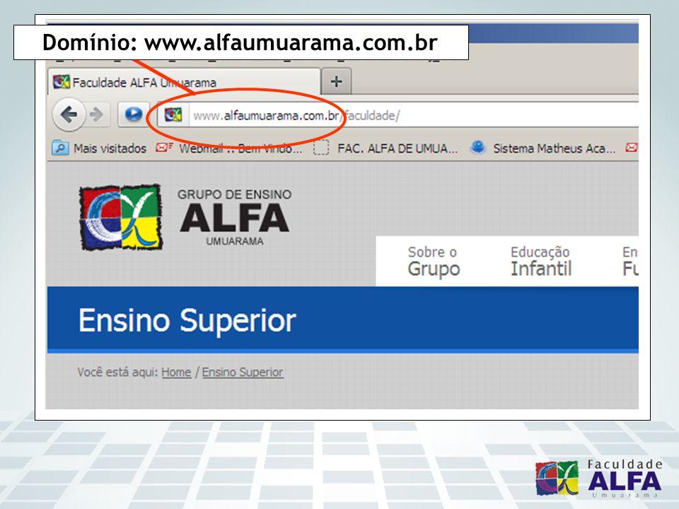 Domínio: www.alfaumuarama.com.br