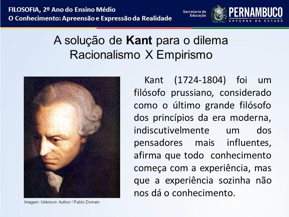 Kant (1724-1804) foi um filósofo prussiano, considerado como o último grande filósofo dos princípios da era moderna, indiscutivelmente um dos pensador
