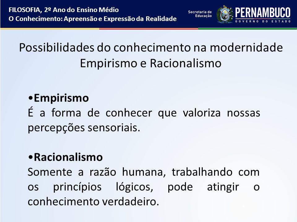 Para o empirista, todo o conhecimento está baseado na experiência sensorial.