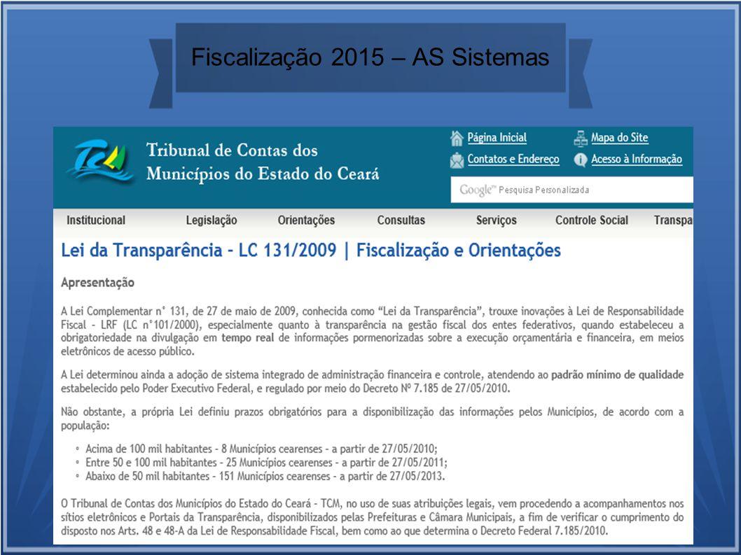 Fiscalização 2015 – AS Sistemas