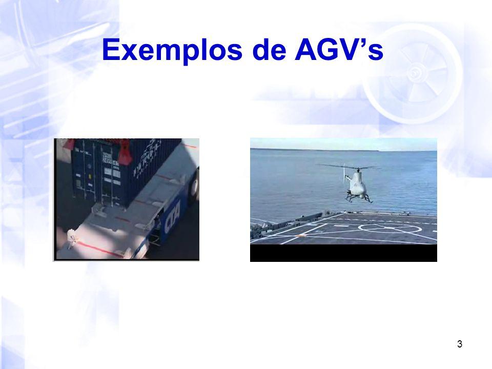 4 Como seguir caminhos.Com fios (wired) O AGV segue guias embutidos no chão.