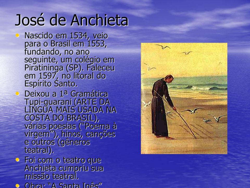 Barroco O Barroco teve seu início no Brasil, em 1601, com a publicação de PROSOPOPÉIA, de Bento Teixeira, abrangendo todas as manifestações artísticas dos anos de 1600 e início dos anos de 1700.