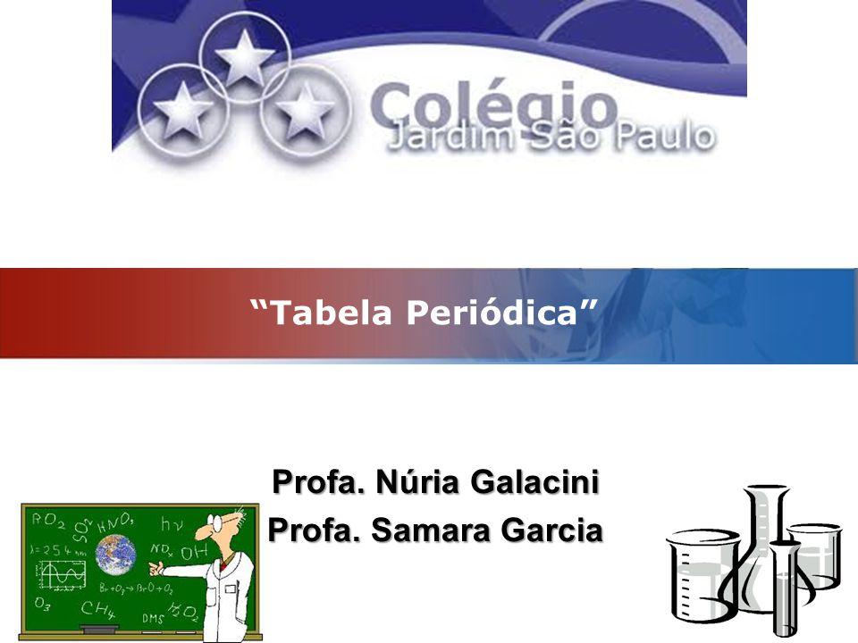 "LOGO ""Tabela Periódica"" Profa. Núria Galacini Profa. Samara Garcia"