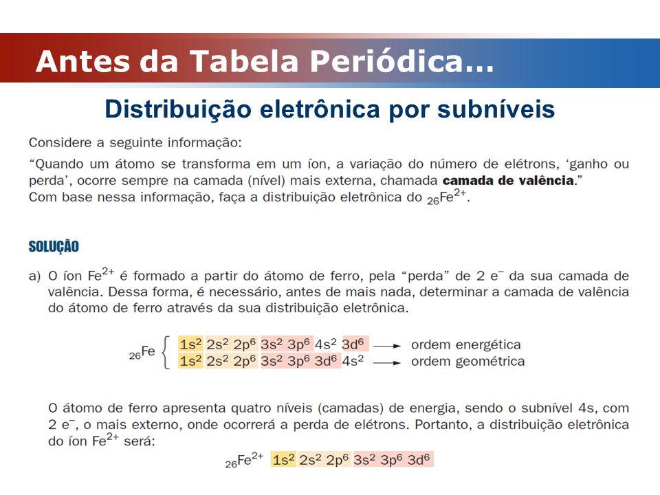Tabela Periódica Propriedades Periódicas : ENERGIA DE IONIZAÇÃO Ao retirarmos o primeiro elétron de um átomo, ocorre uma diminuição do raio.
