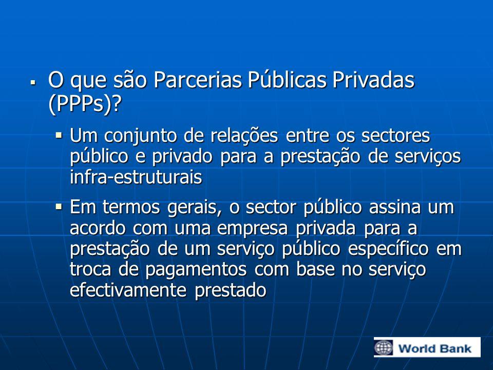  O que são Parcerias Públicas Privadas (PPPs).