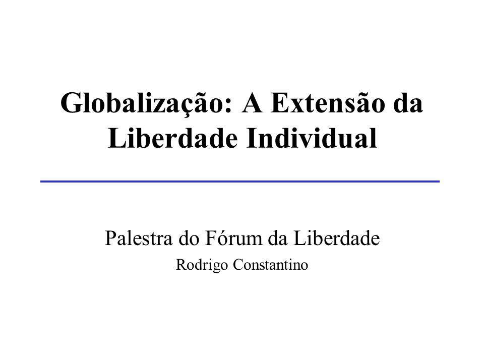 Globalização: A Extensão da Liberdade Individual Palestra do Fórum da Liberdade Rodrigo Constantino