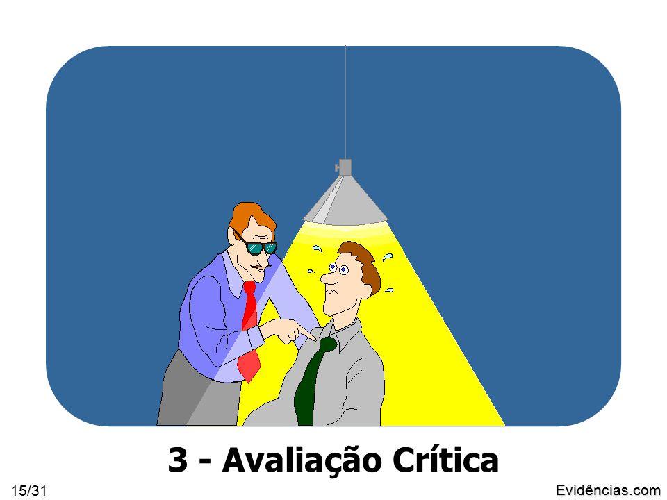 Evidências.com 15/31 3 - Avaliação Crítica
