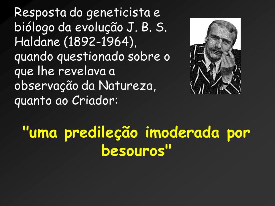 Resposta do geneticista e biólogo da evolução J.B.