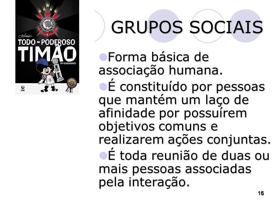 Forma básica de associação humana.Forma básica de associação humana.