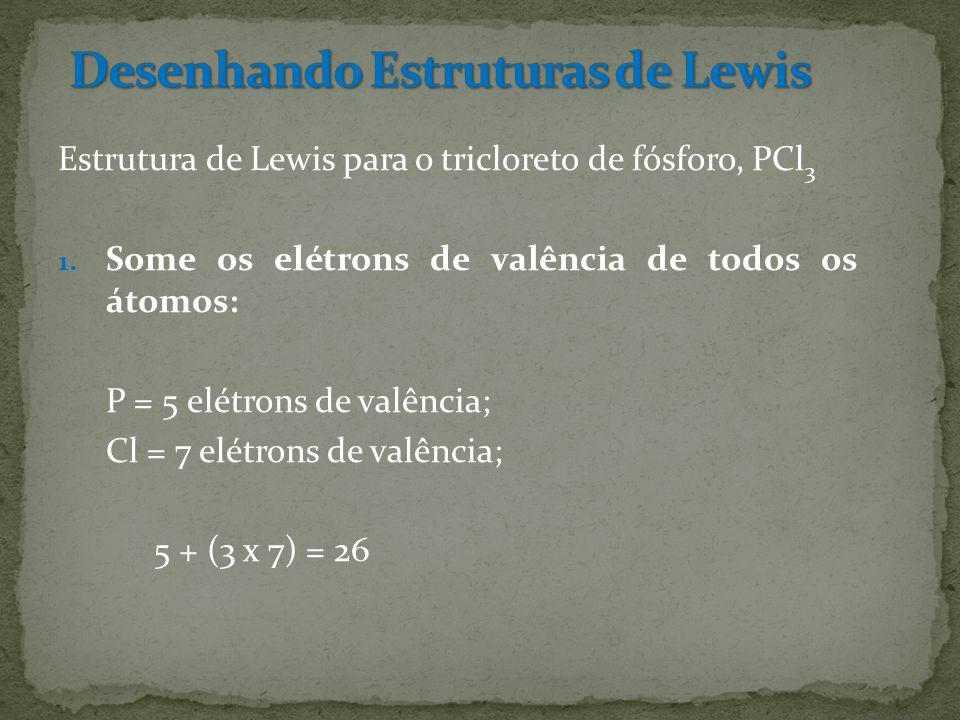 Estrutura de Lewis para o tricloreto de fósforo, PCl 3 1.