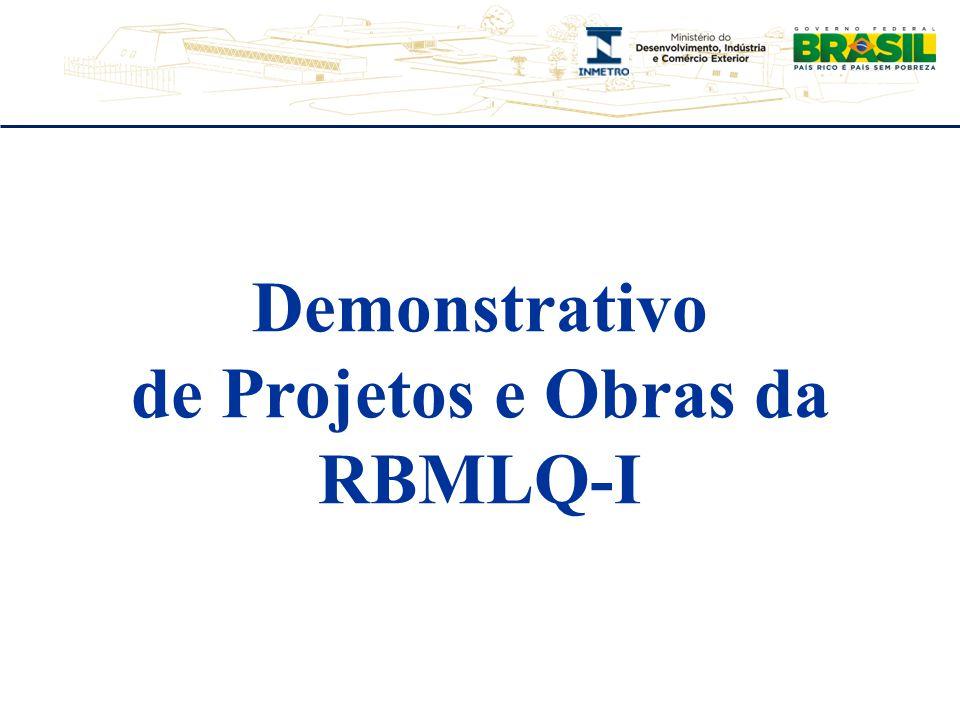 Demonstrativo de Projetos e Obras da RBMLQ-I