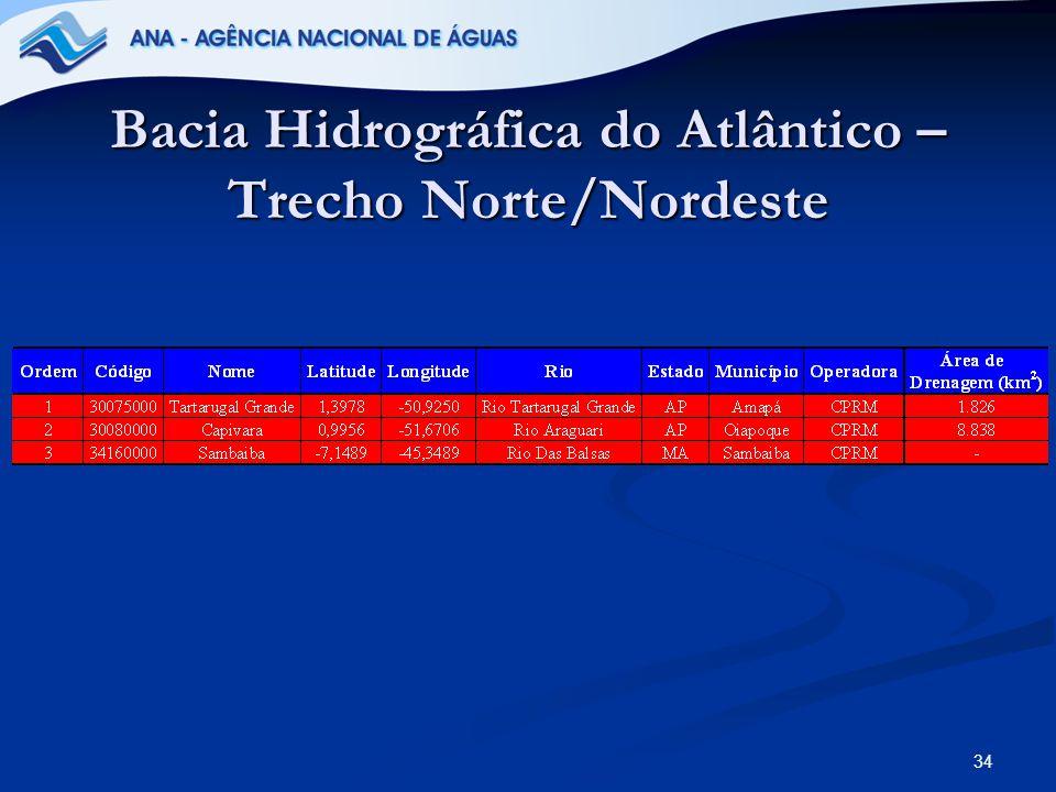 34 Bacia Hidrográfica do Atlântico – Trecho Norte/Nordeste