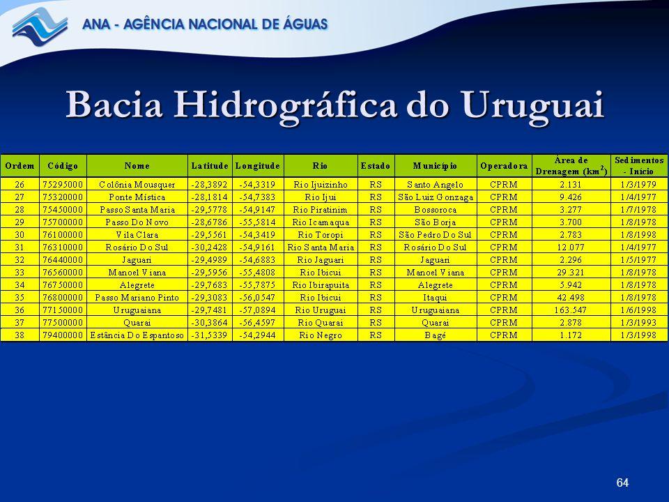 64 Bacia Hidrográfica do Uruguai