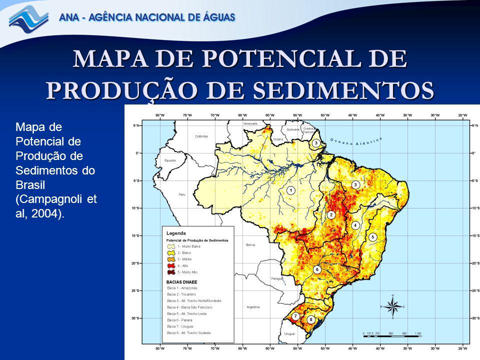 50 Bacia Hidrográfica do Paraná Além do mais, existem muitas usinas hidrelétricas nesta Bacia Hidrográfica e as partes altas da maioria de suas sub-bacias apresentaram um alto potencial de produção de sedimentos.