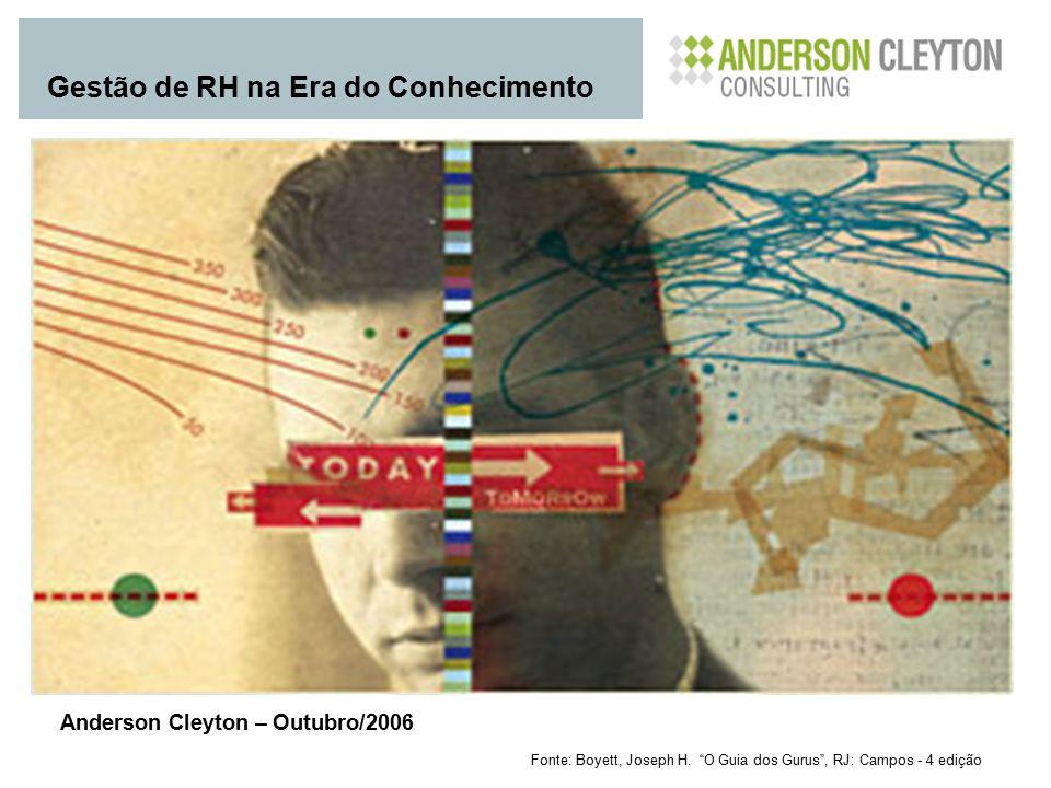 """Fonte: Boyett, Joseph H. """"O Guia dos Gurus"""", RJ: Campos - 4 edição Gestão de RH na Era do Conhecimento Anderson Cleyton – Outubro/2006"""