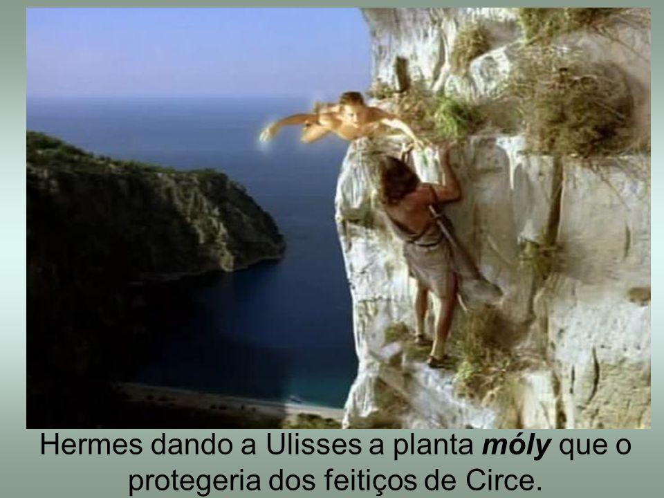 Hermes dando a Ulisses a planta móly que o protegeria dos feitiços de Circe.