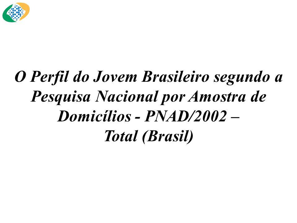 O Perfil do Jovem Brasileiro segundo a Pesquisa Nacional por Amostra de Domicílios - PNAD/2002 – Total (Brasil)