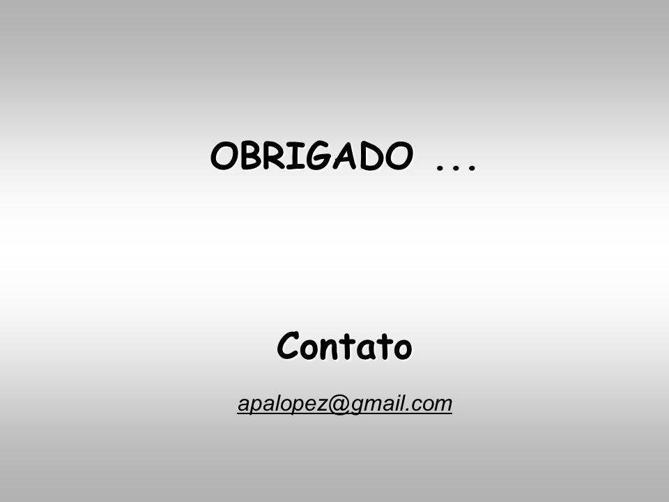 apalopez@gmail.com Contato OBRIGADO...