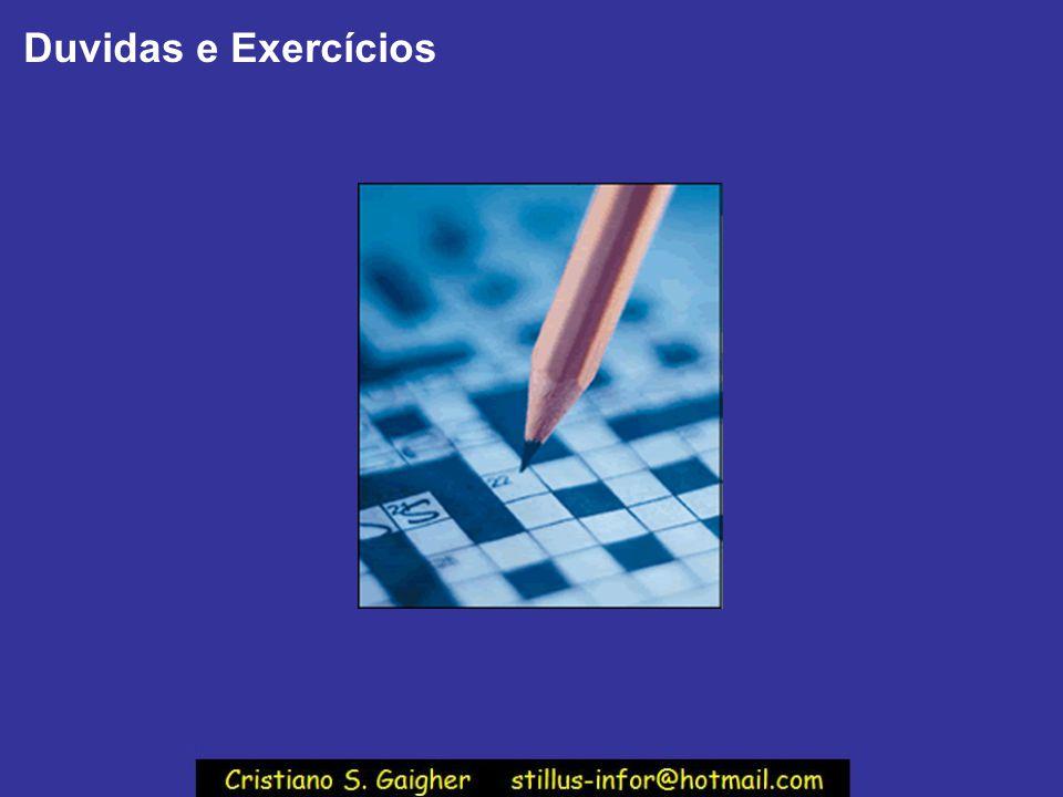 Duvidas e Exercícios