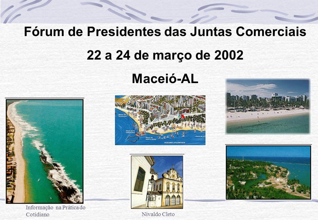 A Tecnologia da Informação na Prática do CotidianoNivaldo Cleto Fórum de Presidentes das Juntas Comerciais 22 a 24 de março de 2002 Maceió-AL