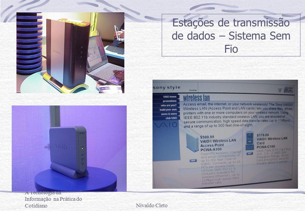 A Tecnologia da Informação na Prática do CotidianoNivaldo Cleto Estações de transmissão de dados – Sistema Sem Fio