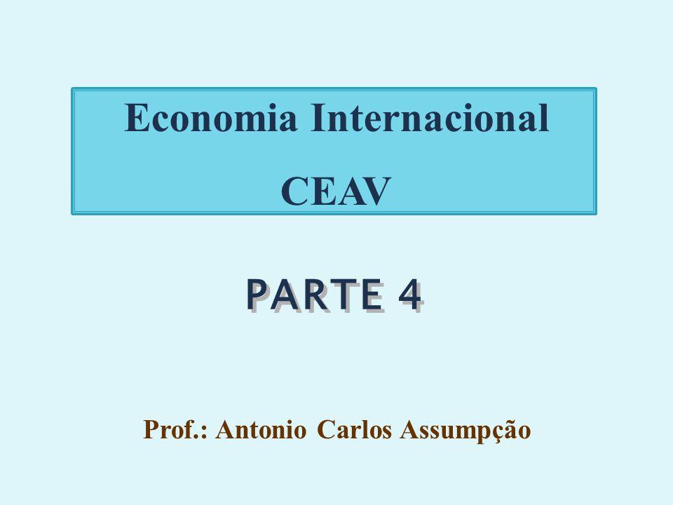 PARTE 4 Economia Internacional CEAV Prof.: Antonio Carlos Assumpção