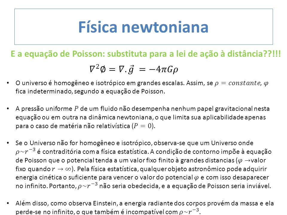 E a equação de Poisson: substituta para a lei de ação à distância??!!!