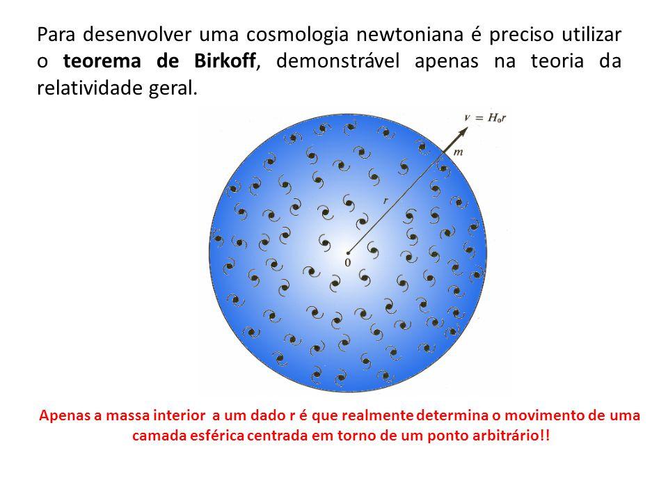 Apenas a massa interior a um dado r é que realmente determina o movimento de uma camada esférica centrada em torno de um ponto arbitrário!! Para desen