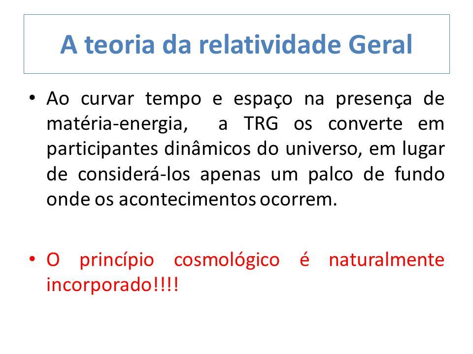 Ao curvar tempo e espaço na presença de matéria-energia, a TRG os converte em participantes dinâmicos do universo, em lugar de considerá-los apenas um