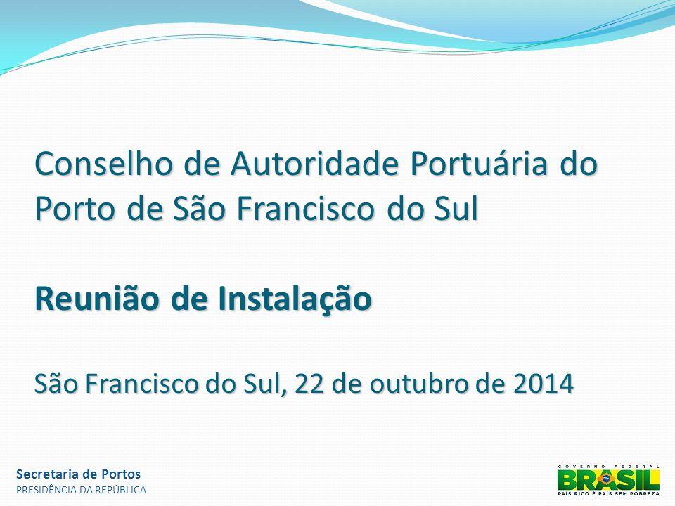 Conselho de Autoridade Portuária do Porto de São Francisco do Sul Reunião de Instalação São Francisco do Sul, 22 de outubro de 2014 Secretaria de Port
